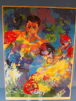 Muhammad Ali George Foreman Zaire Limited Edition Serigraph By Leroy Neiman