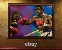 Muhammad Ali vs Joe Frazier Fight Artist Signed Limited Edition Giclée Painting