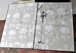 Necronomicon 1 & 2 H R Giger Deluxe Leather LE1/666 Signed Litho Qliphoth RARE