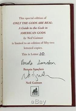 Neil Gaiman American Gods Signed 1st Lettered Edition of 52 Hugo Nebula