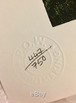 Nick Walker Mona Simpson Original POW Signed Rare Limited Edition 447/750
