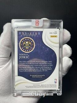 Nikola Jokic Immaculate auto all star lineage 2/2 sealed by panini 19-20