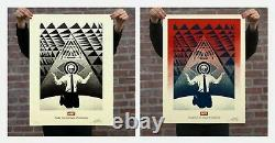 OBEY CONFORMITY TRANCE Red & Black Set Limited Edition /350 Shepard Fairey