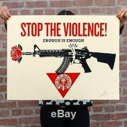 Obey Giant PARKLAND VOICES Signed & Numbered Screen Print Limited Edition of 550