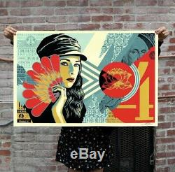 Obey Shepard Fairey Fan the Flames Signed And Numbered Limited Edition Of 550