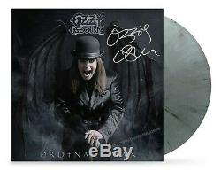 Ozzy Osbourne SIGNED Ordinary Man Vinyl DELUXE LP Silver Smoke OFFICIAL Litho