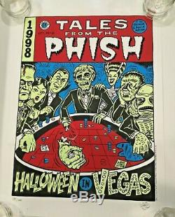 PHISH Las Vegas 1998 Signed Limited Edition Ward Sutton Poster 581/1000