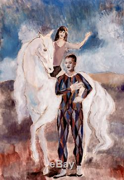 Pablo Picasso HORSE ACROBAT Estate Signed Limited Edition Art Giclee 22 x 13