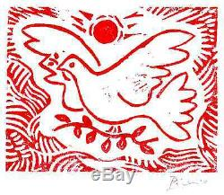 Pablo Picasso Hand Signed Ltd Edition Print Dove of Peace withCOA (unframed)
