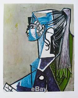 Pablo Picasso PORTRAIT OF SYLVETTE Estate Signed Limited Edition Giclee Art