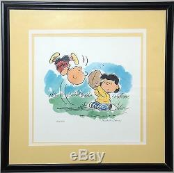 Peanuts Limited Edition Lithograph Auugghhhh. Signed by Schulz Charlie Brown