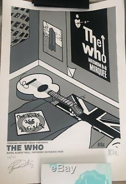 Pete Mckee The Who Roger Daltrey Signed A2 poster Limited Edition