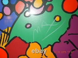 Peter Max Original Serigraph NEW WORLD, signed and numbered, Superb Condition
