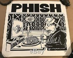 Phish Jim Pollock Signed Dinner And A Movie Print Limited Edition #d 166/800