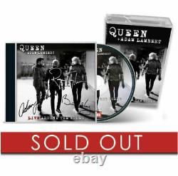 QUEEN & ADAM LAMBERT Live Around The World LATW UK SIGNED CD/CASSETTE Preorder