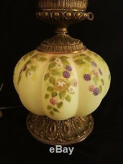 RARE Fenton GONE WITH THE WIND SONG SPARROW Burmese Lamp #351/950 Scott Fenton