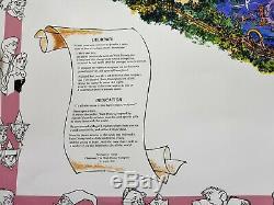 RARE VINTAGE ORIGINAL 1992 EURO DISNEYLAND LIMITED EDITION SOUVENIR MAP signed