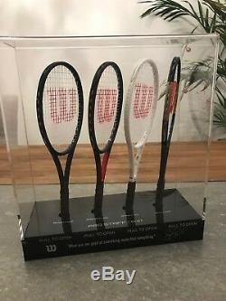 Roger Federer Limited Edition Autographed Mini Tennis Racket Set 125