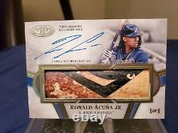 Ronald Acuna Jr. 1/1 Tier 1 Limited Lumber Bat Relic Autograph. Game Used Bat