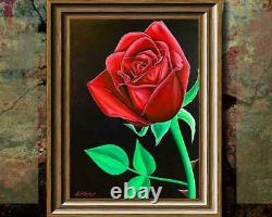 Rose Giclée Print Artist Signed Limited Edition 30 x 40 Canvas Giclée Painting