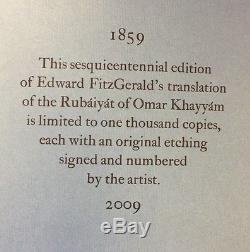 Rubaiyat of Omar Khayyam Folio society No 2/1000 Signed Limited edition 2009