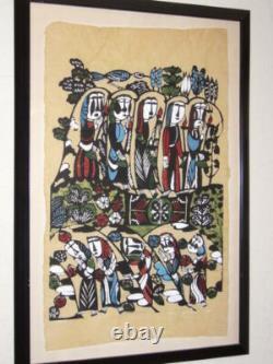 SADAO WATANABE Masterpiece Large Original 1964 Japanese Stencil Print