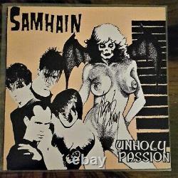 SAMHAIN UNHOLY PASSION Original SIGNED 1st press Misfits Danzig EP Plan 9 INSERT