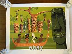 SHAG Josh Agle In Search Of Tiki Serigraph Art Print Mint
