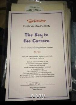 SHAG Josh Agle The Key to the Carrera Serigraph Art Print Giclée Mint Unframed