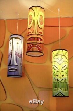 SHAG Josh Agle Tiki Hanging Pendant Lamp Combo Set Serigraph Art Print Mint COA