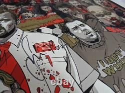 SHAUN OF THE DEAD Tyler Stout MONDO POSTER Cast Signed by Wright Frost and Pegg