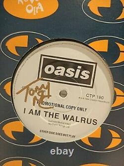 SIGNEDOasis I Am The Walrus 12 Vinyl PROMO Gallagher Grail Liam Noel