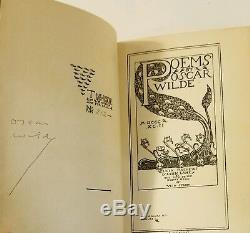 SIGNED Poems by Oscar Wilde, 1892 HC, Limited edition #212/220 + Clamshell Box