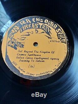 SUN RA Out Beyond The Kingdom of Vinyl LP MEGA RARE Signed Excellent Con