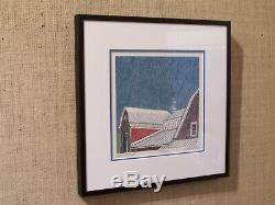 Sabra Field rare limited edition woodblock print Spring Rain