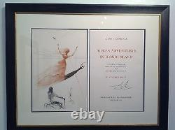 Salvador Dali Alice In Wonderland Signed in Pencil by Dali