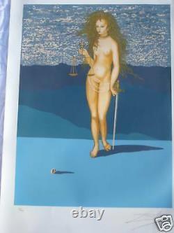 Salvador Dali Goddess Of Justice Tarot Card 1977 Lublin