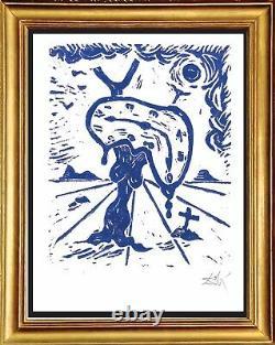 Salvador Dali Hand Signed Ltd Edition Print Memory Landscape withCOA (unframed)
