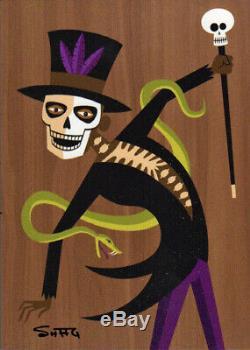 Shag Papa Legba Vodou Voodoo Hand-Signed Limited Edition Print On Wood Josh Agle