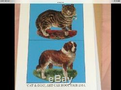 Sir PETER BLAKE CAT & DOG LIMITED EDITION CAR'ART' BOOT FAIR PRINT RARE