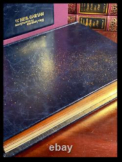 Stardust SIGNED by NEIL GAIMAN Mint Lyra's Limited Blue Leather Hardback 1/100
