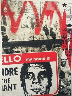 Street art print obey shepard fairey hello my name is signed limited edition