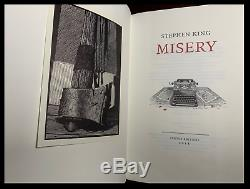 Suntup Press Misery SIGNED by Stephen King New Limited Edition + Rights & Swag