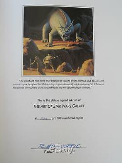 THE ART OF STAR WARS GALAXY Deluxe Limited Edition 733/1000 SIGNED by MOEBIUS ua