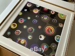 Takashi Murakami'Jellyfish Eyes Black 3 Framed. Signed. Limited Edition