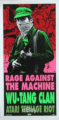 Taz Rage Against The Machine Wu-tang Clan Silkscreen Poster Signed Numbered