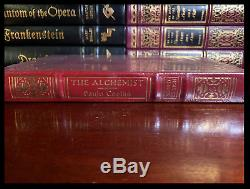 The Alchemist SIGNED by PAULO COELHO New Easton Press Leather Bound Hardcover