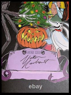 The Nightmare Before Christmas SIGNED by M. REINHART New Pop-Up Limited 1/100