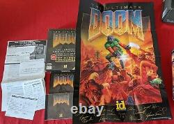 The Ultimate DOOM PC BIG BOX Limited Edition w Poster'Signed By The Developers