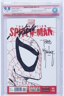 Todd Mcfarlane Hand Sketch Original Comic Art Signed Stan Lee Cbcs 9.8 Ss